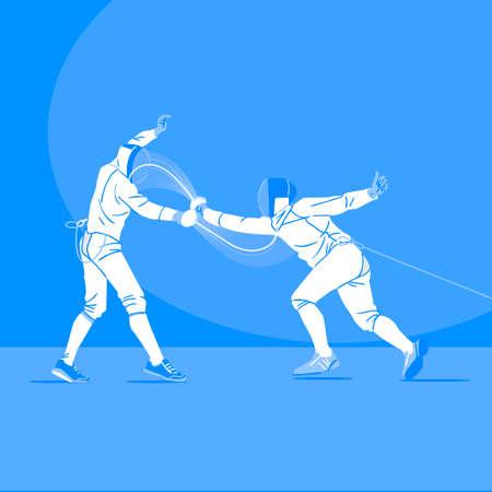 Sports Athletes silhouette illustration 044  イラスト・ベクター素材