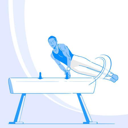 Sports Athletes silhouette illustration 031  イラスト・ベクター素材