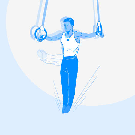 Sports Athletes silhouette illustration 034  イラスト・ベクター素材
