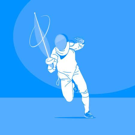 Sports Athletes silhouette illustration 046  イラスト・ベクター素材
