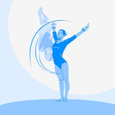 Sports Athletes silhouette illustration 033  イラスト・ベクター素材