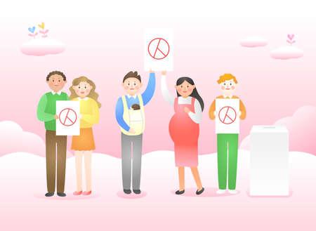 Voting and Election concept flat design illustration 005 Ilustración de vector