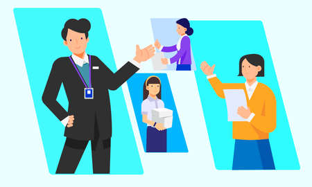 Business, people and teamwork concept illustration 005