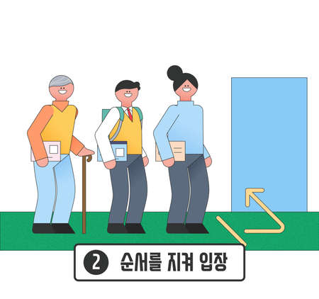 Voting and Election concept, Voting process illustration 002