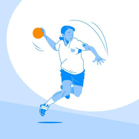Sports Athletes silhouette illustration 049  イラスト・ベクター素材