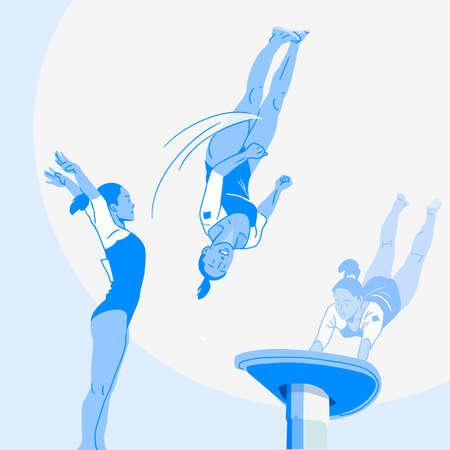 Sports Athletes silhouette illustration 032
