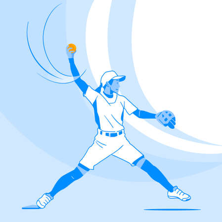 Dynamic sports, Various sports players illustration 004