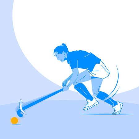 Dynamic sports, Various sports players illustration 일러스트