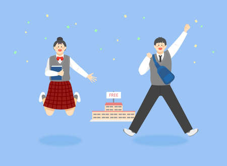 Daily llife of happiness people concept flat illustration 006