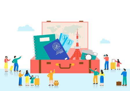 Trade fair concept. Showcase of specific industry flat design illustration 008 Stock Illustratie