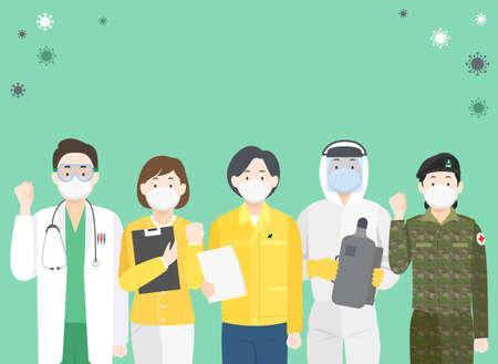 Preventive measures against the virus illustration 004 Vector Illustration