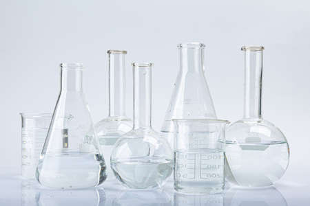 Fresh and clean water concept, water glass isolated