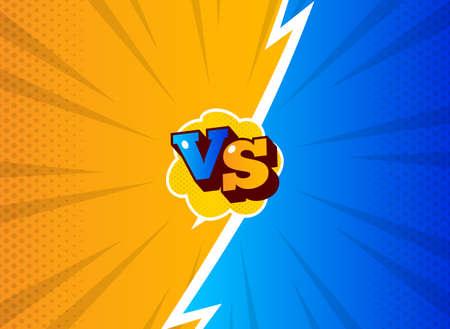 VS versus symbol for confrontation or opposition design concept illustration 007 Stock Illustratie
