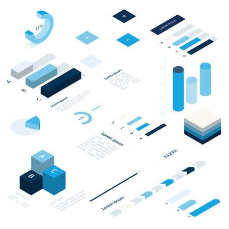 Business Infographic set illustration