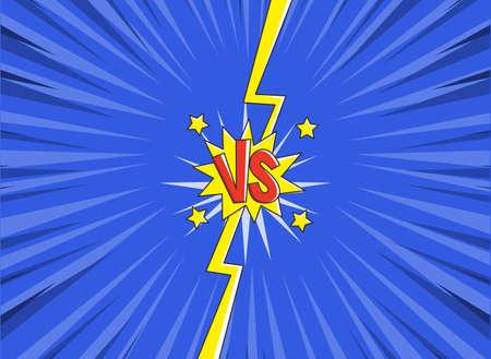 VS versus symbol for confrontation or opposition design concept illustration