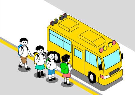 Children traffic safety concept illustration