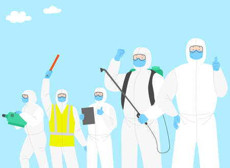 Victory over the virus. Stopping an epidemic infection illustration  007