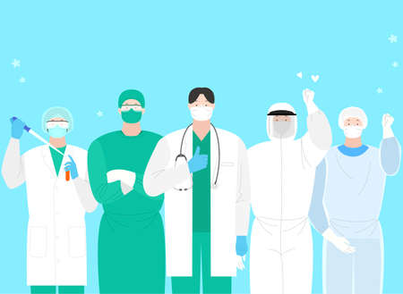 Victory over the virus. Stopping an epidemic infection illustration 001 Vektoros illusztráció