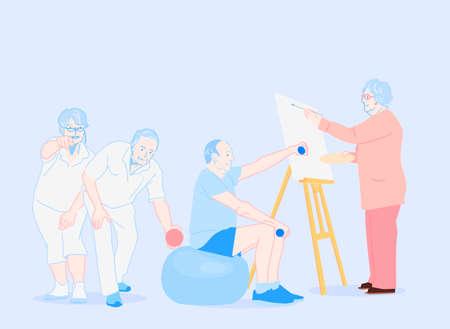 Be happy modern people lifestyle illustration 011