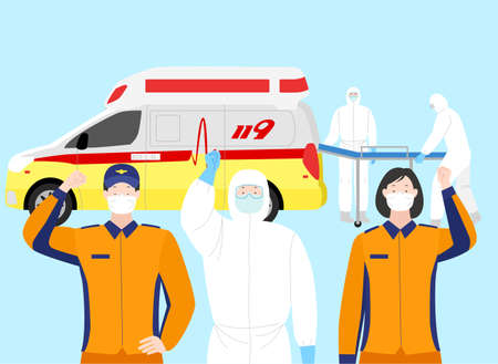 Victory over the virus. Stopping an epidemic infection illustration  004 Ilustração