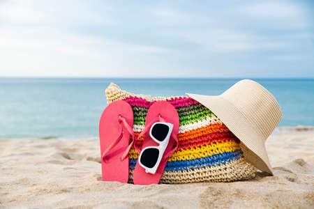 Summer holiday concept, Summer beach accessories 045
