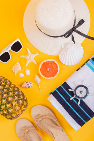 Summer holiday concept, Summer beach accessories 096 Banque d'images