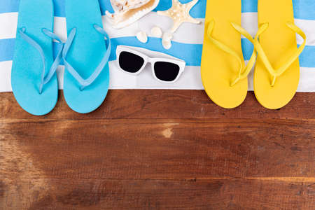 Summer holiday concept, Summer beach accessories 176 Banque d'images