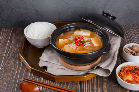 Delicious Korean food, a collection of various Korean dishes 249