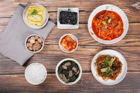Delicious Korean food, a collection of various Korean dishes 293