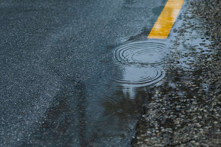 Rainy season city landscape 097 Stock Photo