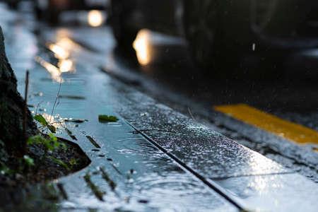 Rainy season city landscape 124