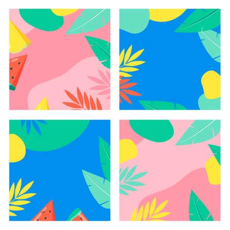 Set of colorful summer background designs illustration 005 Vector Illustratie