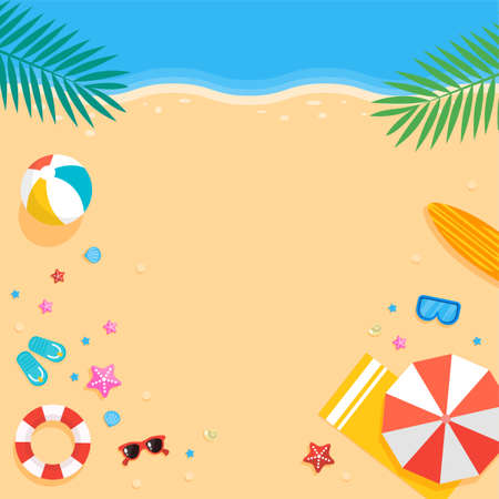 Tropical summer background illustration 010