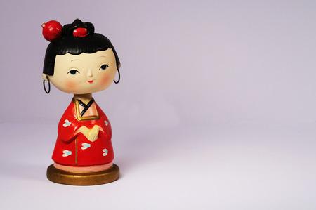 일본 나무 보빈 두부 인형