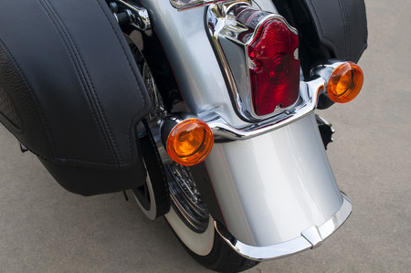 Motorcycle Rear Fender, Lights and Saddle Bags