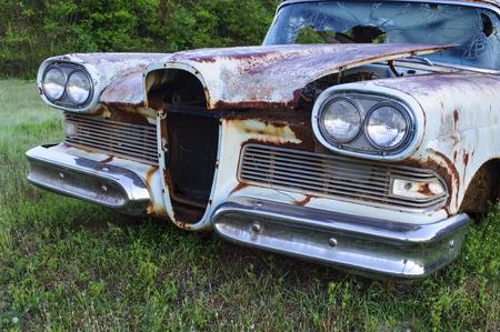 rusty car: Old Rusty Classic Car