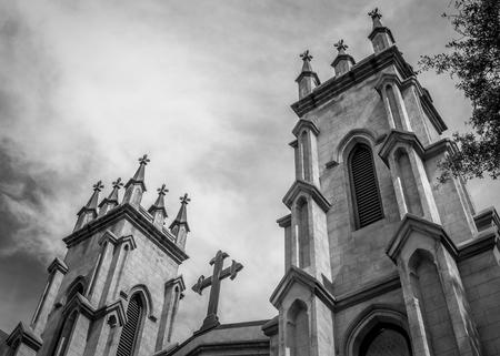 episcopal: Gothic Style Trinity Episcopal Church Stock Photo
