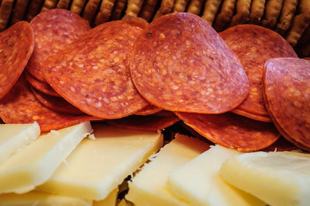 Pepperoni, Cheese and Crackers Food Tray