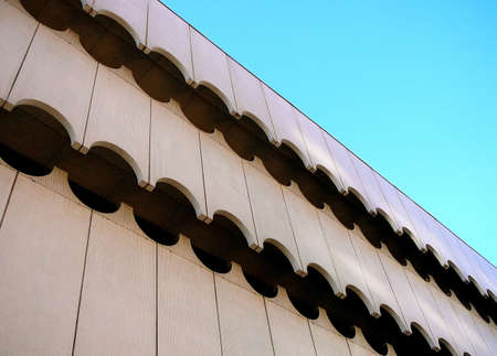Architecture Detail of Contemporary Exterior Wave PatternArchitecture Detail of Contemporary Exterior Wave Pattern