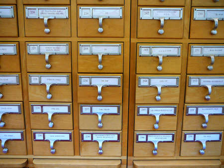 Card Catalogue Cabinet in Academic Library Stock Photo - 833058