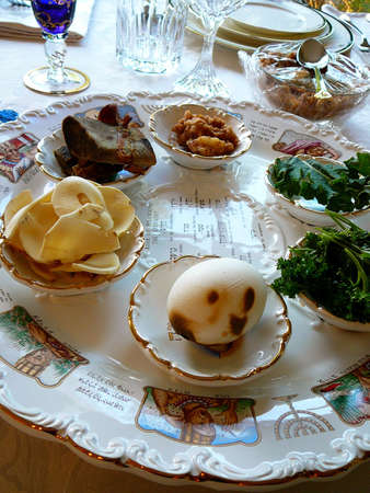 jewish home: Traditional Passover Seder Plate