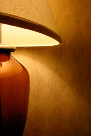 Detail of Brown Glass Lamp Stock Photo