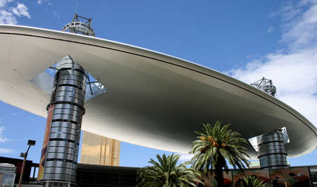 Wild Architecture in Las Vegas: Shopping Mall Stock Photo