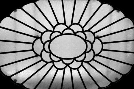 abstracted: Abstract Skylight Window in Ceiling of Large Lobby Stock Photo