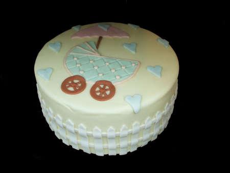 Cake Decorated to Celebrate  Shower Isolated Over Black Background Stock Photo - 2528430