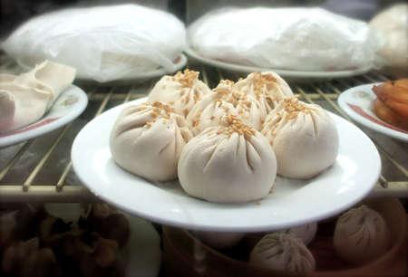 dim: Sesame Pork Dim Sum Dumplings at Chinese Restaurant