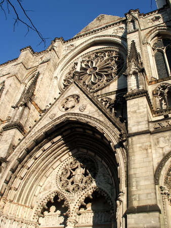 Detail of Monumental Saint John the Divine Cathedral, New York City  photo
