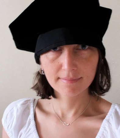 doctoral: Studentessa di dottorato in dottorato Cappellino per Graduation Ceremony  Archivio Fotografico