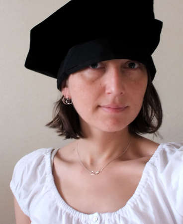 Female Student in Doctoral PhD Cap for Graduation Ceremony Stock Photo - 2887238