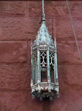 gothic design: Antique Metal Lantern with Gothic Design